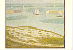 Click here to enlarge image and see more about item cs4011: Port en Bessin Entrance to the Harbor Georges Seurat Postcard cs4011