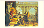 Maecenas presenting the Arts to Augustus Postcard cs4015