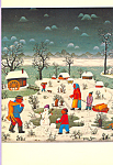 The Night Before Christmas Josip Generalic Postcard cs4018