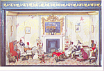 Click here to enlarge image and see more about item cs4101: Drawing Room From a Doll s House Postcard cs4101