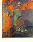 Maternity Women by the Sea Paul Gauguin Postcard cs4126