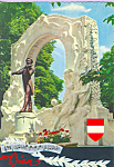 Click here to enlarge image and see more about item cs4159: Johann Strauss Monument Vienna Austria cs4159
