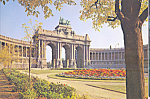 Click here to enlarge image and see more about item cs4164: Brussels Cinquantenaire Palace Postcard cs4164