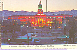 Click here to enlarge image and see more about item cs4197: Denver's City County Building, Christmas Lighting