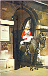 Click here to enlarge image and see more about item cs4271: Mounted Sentry Horse Guards Whitehall London England cs4271