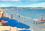 Click here to enlarge image and see more about item cs4316: La Plage Au fond Cannes La Cote D'Azur