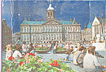 Click here to enlarge image and see more about item cs4334: Dam with Royal Palace Amsterdam Holland Postcard cs4334