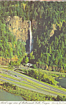 Click here to enlarge image and see more about item cs4375: Multnoman Falls on the Columbia River Oregon cs4375