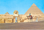 Click here to enlarge image and see more about item cs4437: The Great Sphinx and Khelreh Pyramid Egypt cs4437