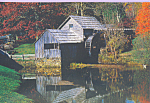 Old Mill With Waterwheel Scene Postcard cs4538