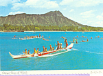Click here to enlarge image and see more about item cs4553: Outriggers Diamond Head Oahu Hawaii cs4553