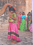 Click here to enlarge image and see more about item cs4631: Girls with Elephant India  cs4631