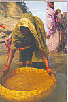 Click here to enlarge image and see more about item cs4635: Woman with Basket India cs4635