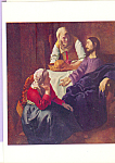 Christ in House of Martha and Mary Jan Vermeer Postcard cs4647
