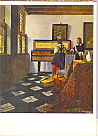The Music Lesson Jan Vermeer Postcard cs4648