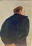 View of Man From Back Hands Folded Postcard cs4679