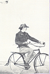 Photo of Fisherman on Old Tyme Bicycle Postcard cs4685