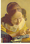 The Face Maker Vermeer of Delft Postcard cs4693