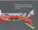 Click here to enlarge image and see more about item cs4702: Coffin Shaped Like A Crab Postcard cs4702