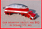 Click here to enlarge image and see more about item cs4783: Weakfish on a Trailer Truck Postcard cs4783