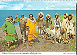Click here to enlarge image and see more about item cs4854: Eskimo Dancers  Alaska Postcard cs4854