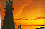 Lighthouse Sunrise Postcard cs4892