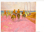 Riders on the Beach Paul Gauguin Postcard cs4907
