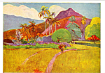 Tahitian Mountains Paul Gauguin Postcard cs4909