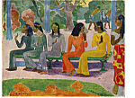The Market  Paul Gauguin Postcard cs4913