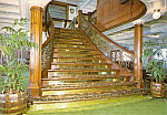 Grand Mahongany Staircase of the Delta Queen cs4931