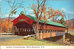 Click here to enlarge image and see more about item cs4954: Jackson Covered Bridge White Mountains NH Postcard cs4954