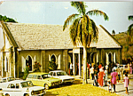 Click here to enlarge image and see more about item cs5007: Cavalia Hill Methodist Church Montserrat Vintage Cars cs5007