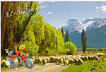 Flock Sheep at Road to Glenorchy, Lake Wakatipu, NZ