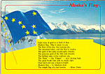 Click here to enlarge image and see more about item cs5125: Alaska State Flag and Poem by Marie Drake