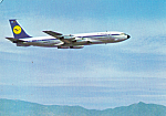 Click here to enlarge image and see more about item cs5128: Lufthansa Boeing 707 Intercontinental Jet