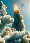 Click here to enlarge image and see more about item cs5216: Space Shuttle Columbia Launching From Pad 39B