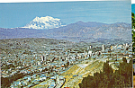 Click here to enlarge image and see more about item cs5223: La Paz Vista Panoramica con Monte Illimani La Paz Bolivia cs5300