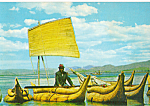 Click here to enlarge image and see more about item cs5229: Balzas de Totora, Lago Titicaca Bolivia cs5229