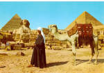 Click here to enlarge image and see more about item cs5252: Giza Egypt The Pyramids and The Sphinx cs5252