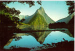 Click here to enlarge image and see more about item cs5318: Mitre Peak Reflected in Milford Sound New Zealand cs5318
