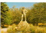 Click here to enlarge image and see more about item cs5337:  The David Livingstone Memorial statue at Victoria Fall
