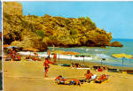 Torremolinos, Costa del Sol Cliffs at its Beach