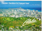 Click here to enlarge image and see more about item cs5543: Honolulu Punchbowl to Diamond Head