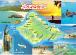 Click here to enlarge image and see more about item cs5548: Map of Oahu Hawaii cs5548