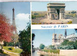 Click here to enlarge image and see more about item cs5601: Norte Dame and Place de l Etoile Paris France cs5601