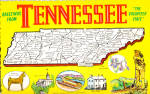 State Map of Tennessee cs5638