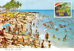 Click here to enlarge image and see more about item cs5669: Florida Beach Scene with a wiggle picture cs5669