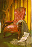 Click here to enlarge image and see more about item cs5670: Lincoln Death Chair, Greenfield Village,Dearborn Michig