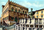 Town Hall Palace and High Fountain Perugia Italy cs5705