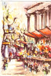 Click here to enlarge image and see more about item cs5753: Flower Vendors Artwork Postcard cs5753